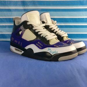 Jordan 4s Kobe Bryant Tribute MAMBA Customs 11/44